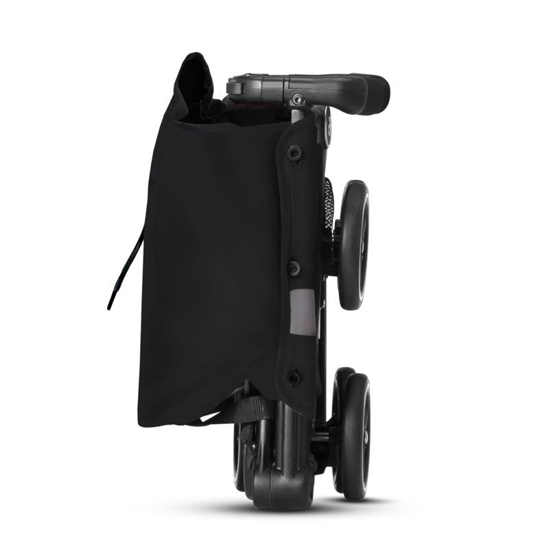 Poussette canne ultra compacte Pockit + Tout-Terrain Velvet Black GB pliée sur le côté