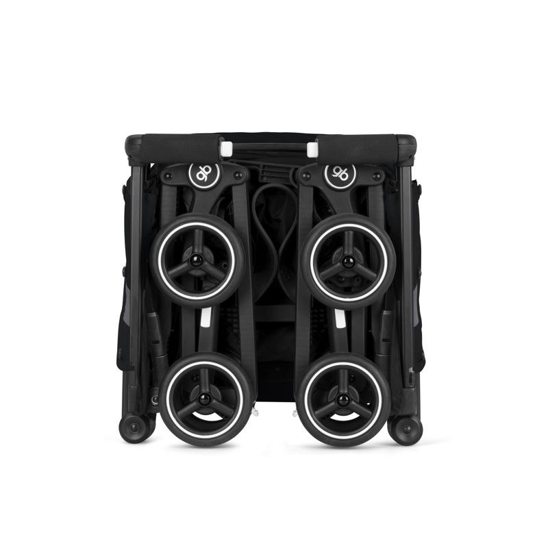 Poussette canne ultra compacte Pockit + Tout-Terrain Velvet Black GB pliée