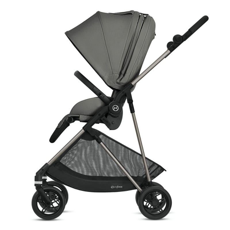 Pack poussette Melio Bronze + siège-auto Cloud Z i-Size Cybex Latéral