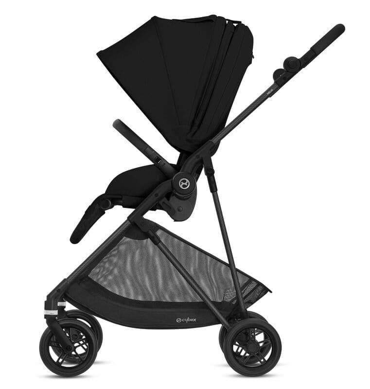 Pack poussette Melio Carbon Deep Black + siège-auto Cloud Z i-Size Cybex Latéral