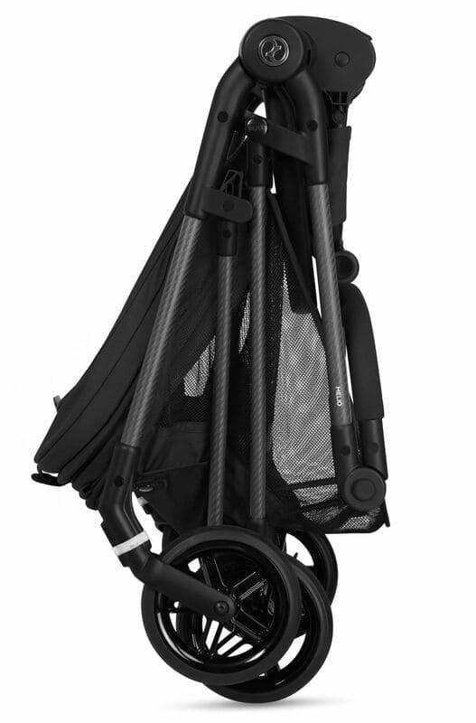 Pack poussette Melio Carbon Deep Black + siège-auto Cloud Z i-Size Cybex Plié