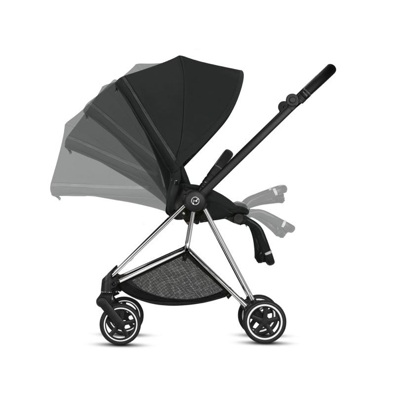 poussette-mios-2019-compacte-urbaine-chassis-chrome-pack-siege-premium-black-cybex-bambinou-inclinaison