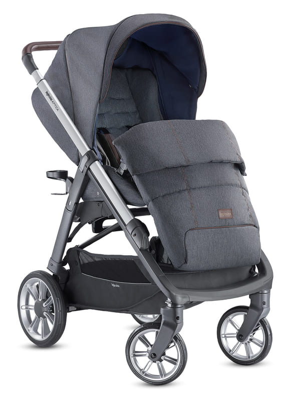 Système Duo Aptica Tailor Denim/Graphite Coffee Inglesina Poussette Couvre-jambes