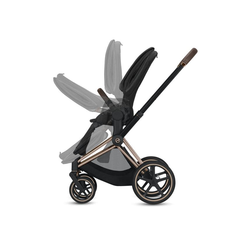 Poussette-priam-chassis-rose-gold-siege-premium-black-cybex