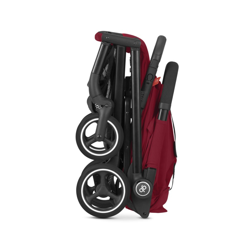 Poussette compacte Qbit + All-City rose red GBpliée