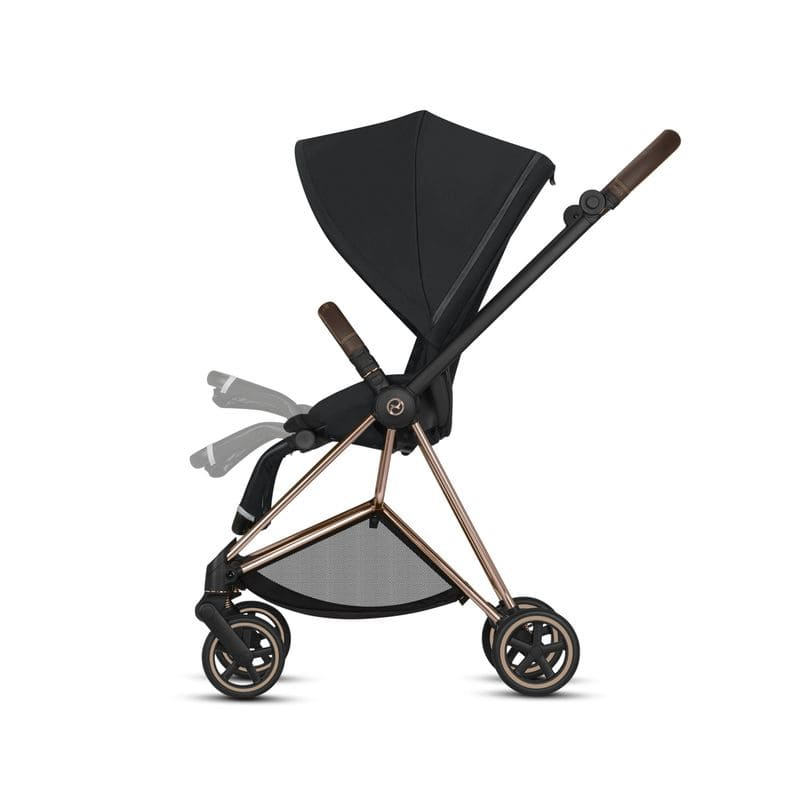 Poussette Mios chassis rose gold siege premium black repose pieds Cybex BamBinou