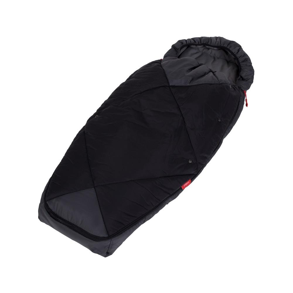 Chancelière sac de couchage poussettes Phil & Teds Charcoal fermée