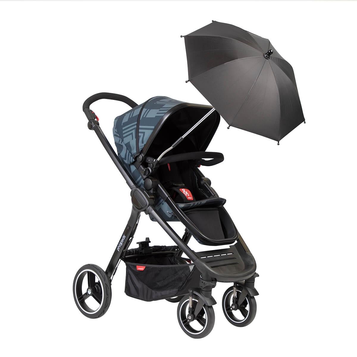 Ombrelle pour poussettes, nacelles et chaises hautes PHIL&TEDS sur poussette Mod
