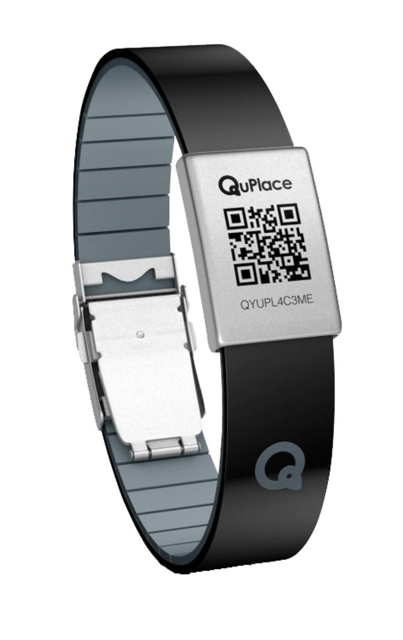 Bracelet géolocalisable QuPlace noir