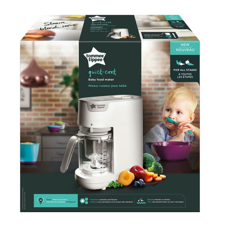 Robot cuiseur mixeur vapeur pour repas bébé Tommee Tippee Packaging