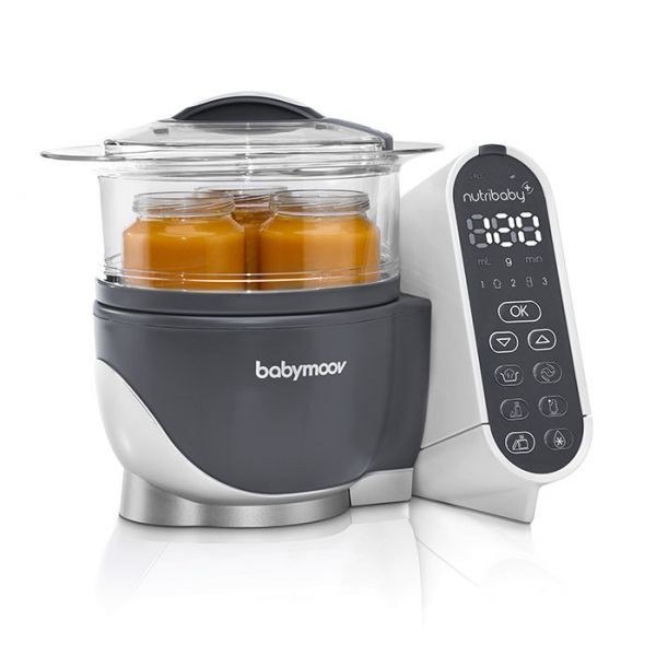 Robot culinaire multifonctions Nutribaby + Industrial Grey Babymoov Réchauffer