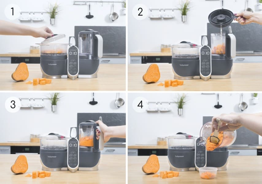 Robot culinaire multifonctions Nutribaby + Industrial Grey Babymoov Fonctions