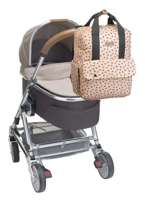 Sac à dos à langer Georgi Eco Leopard Babymel Poussette