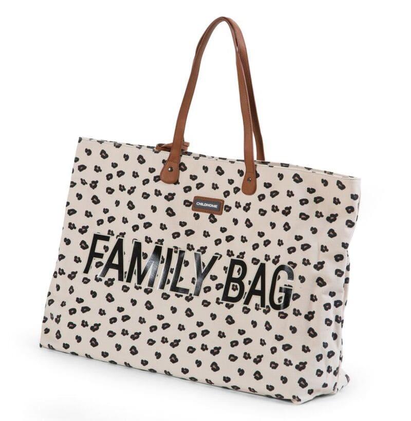 Sac à langer Family Bag Leopard Childhome Gauche