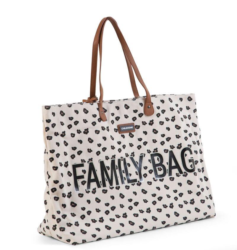 Sac à langer Family Bag Leopard Childhome Droite