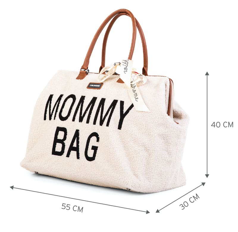 Sac à langer Mommy Bag Teddy Écru Dimensions