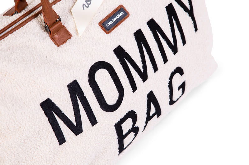 Sac à langer Mommy Bag Teddy Écru Logo