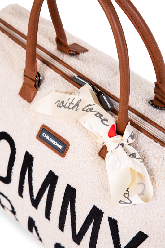 Sac à langer Mommy Bag Teddy Écru Noeud