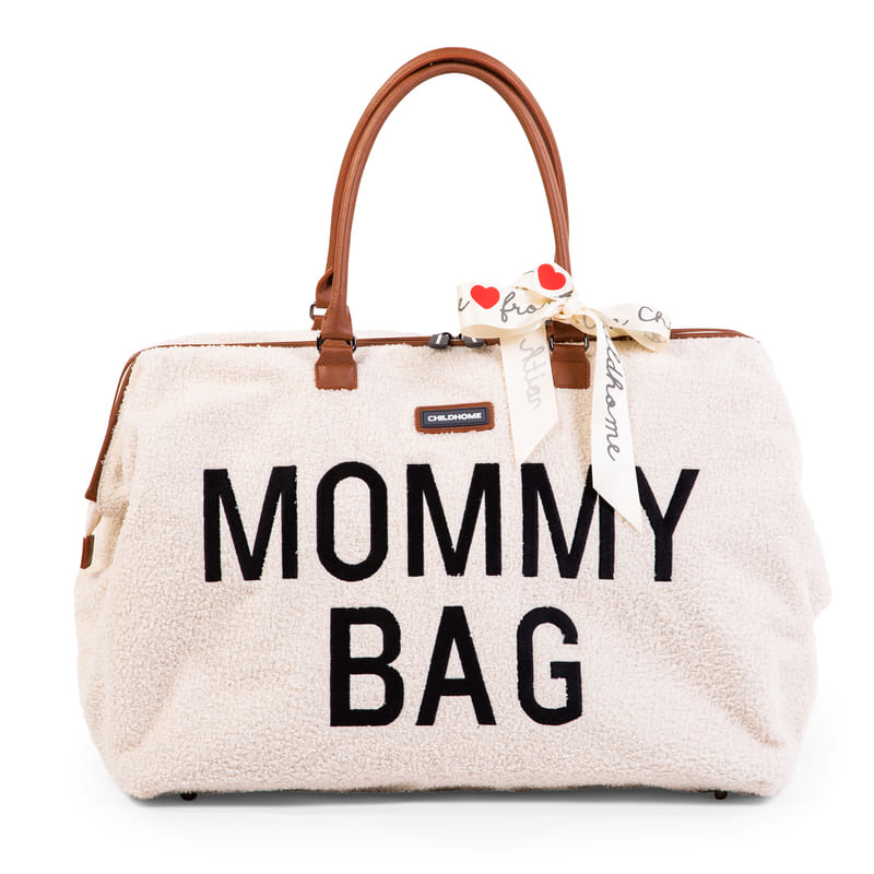 Sac à langer Mommy Bag Teddy Écru Childhome