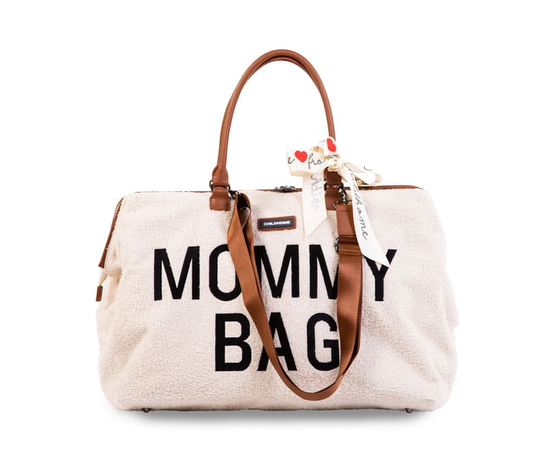 Sac à langer Mommy Bag Teddy Écru Sangle