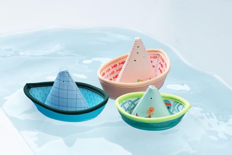 Jouets de bain 3 petits bateaux Jungle Lilliputiens Ambiance