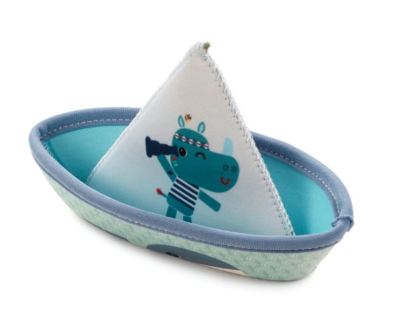 Jouets de bain 3 petits bateaux Jungle Lilliputiens Bleu