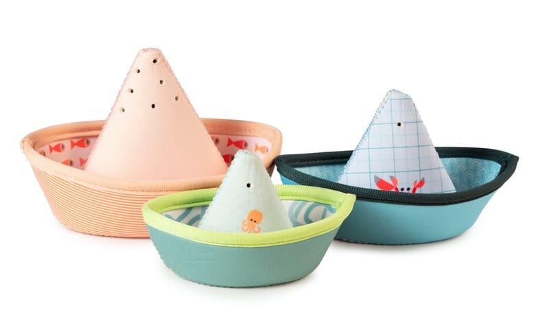 Jouets de bain 3 petits bateaux Jungle Lilliputiens Produit