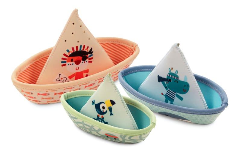 Jouets de bain 3 petits bateaux Jungle Lilliputiens Détail