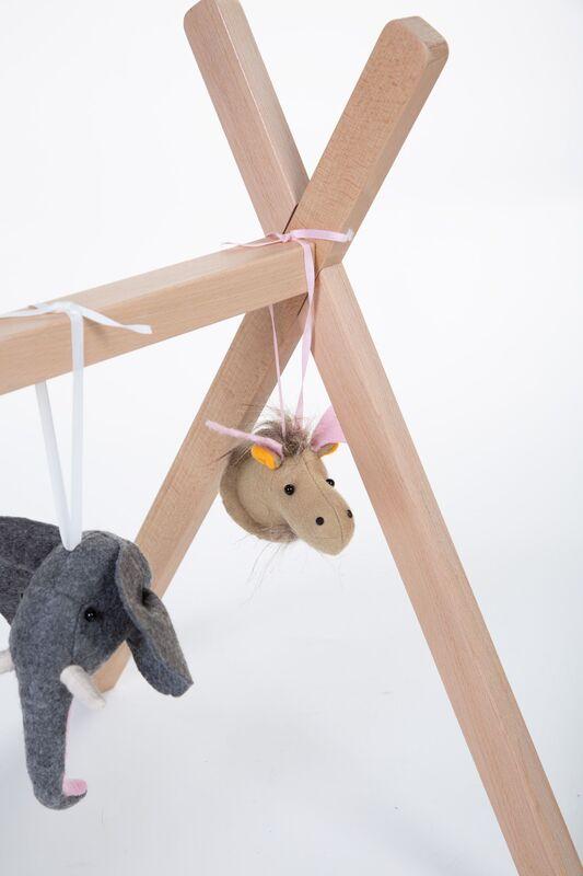Gymtoys animaux feutre pour arche de jeux Childhome Détail