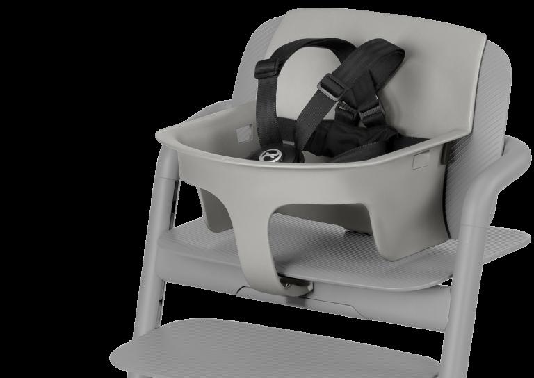 Chaise haute évolutive, set bébé et plateau repas Lemo 3