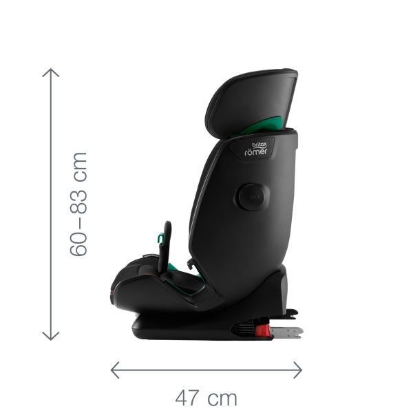 Siège-auto Advansafix i-Size groupe 1/2/3 Britax Römer dimensions de côté