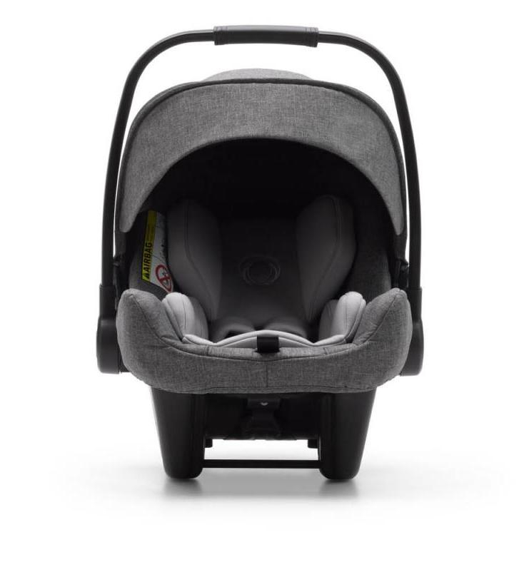 Siège-auto Turtle Air by Nuna i-Size groupe 0+ Gris Chiné Bugaboo Frontal