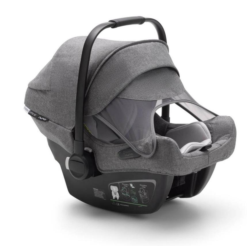 Siège-auto Turtle Air by Nuna i-Size groupe 0+ Gris Chiné Bugaboo Protection