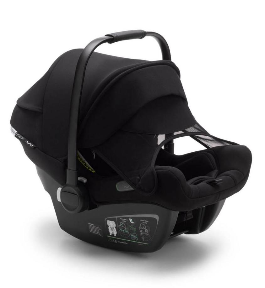 Pack siège-auto Turtle Air by Nuna groupe 0+ et base isofix Bugaboo pare-soleil