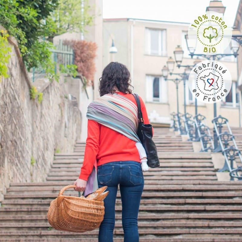 Sling coton bio Hugo de dos Neobulle BamBinou