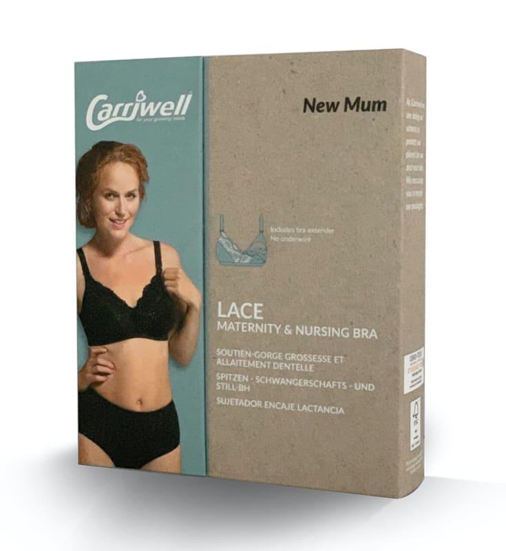 Soutien-gorge d'allaitement finition dentelle Blanc Carriwell Packaging