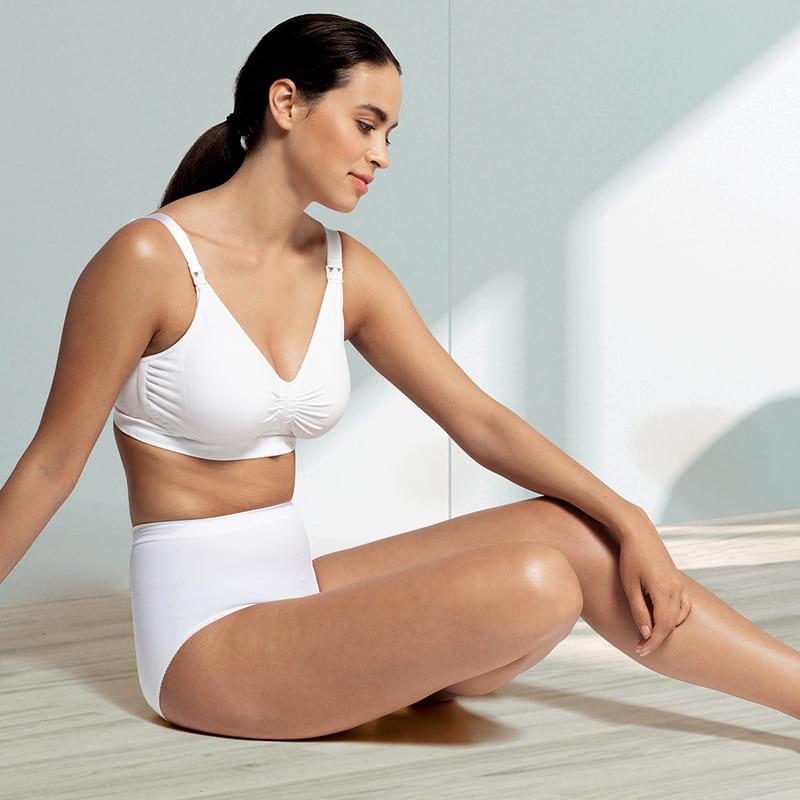 Soutien gorge d'allaitement Carri-Gel sans coutures Blanc Carriwell Ambiance