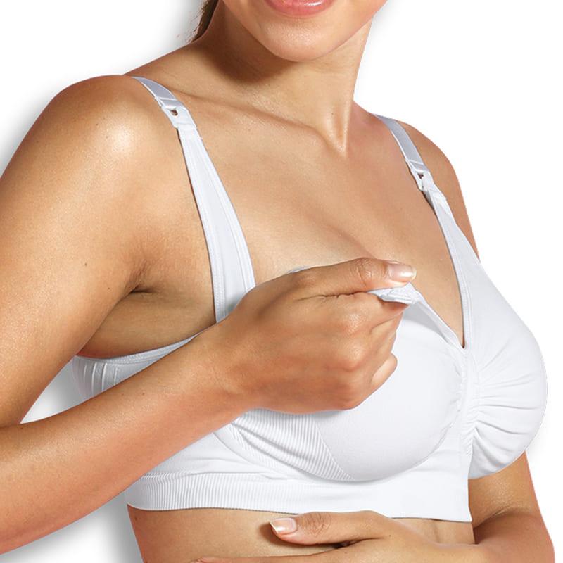 Soutien gorge d'allaitement Carri-Gel sans coutures Blanc Carriwell Bonnet