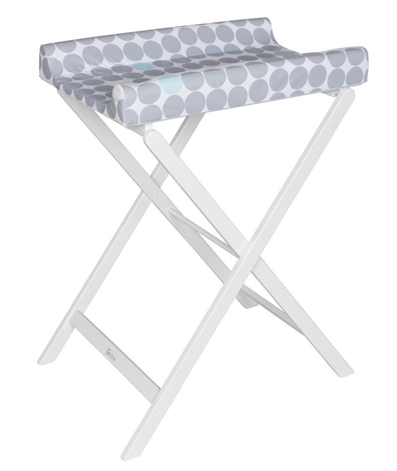Table à langer pliable Trixi blanc avec matelas prisme pliée Geuther Produit