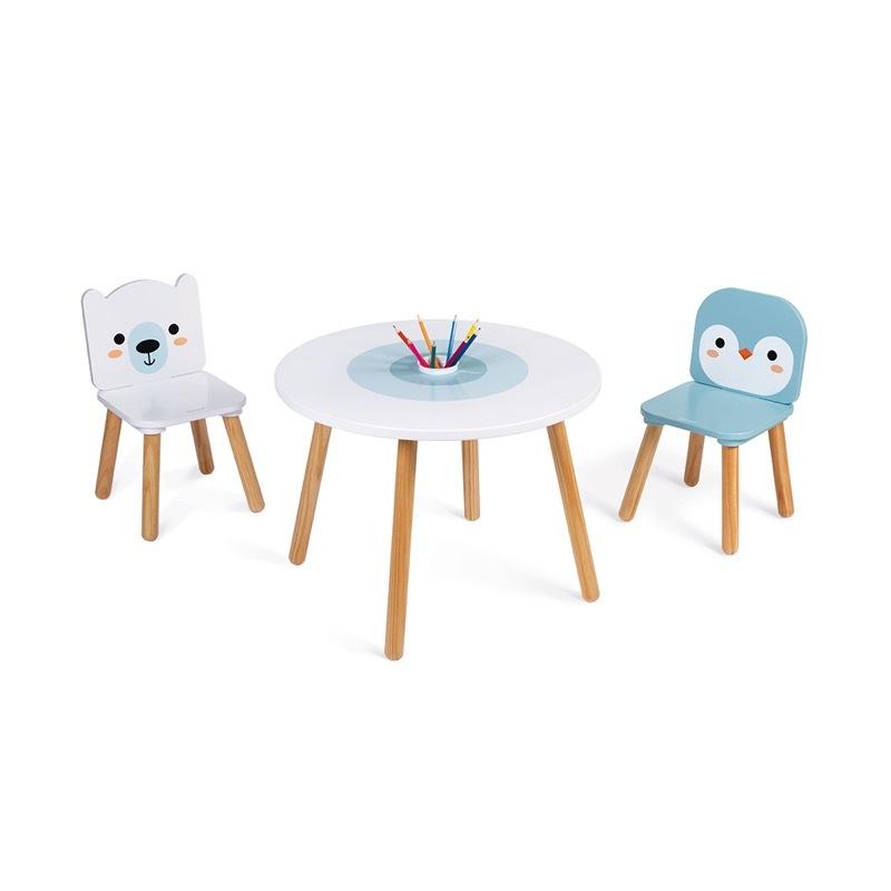 Table et chaises Banquise Janod profil 2