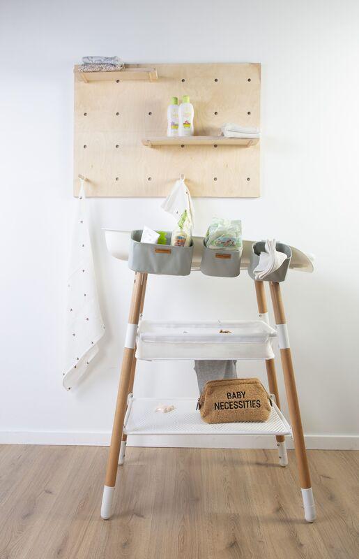 Table à langer Evolux Naturel/Blanc Childhome Accessoires