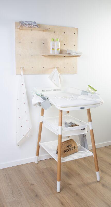 Table à langer Evolux Naturel/Blanc Childhome Lifestyle