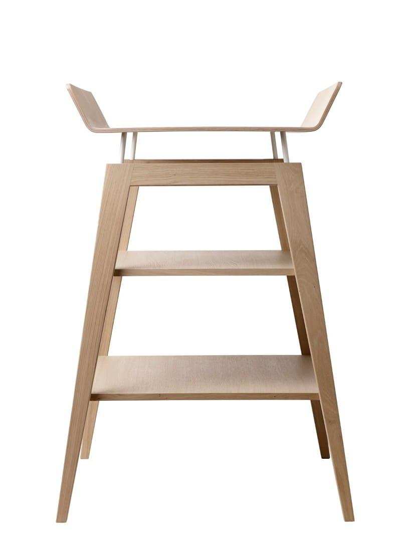 Table à langer avec matelas Linea bois de chêne Leander 2