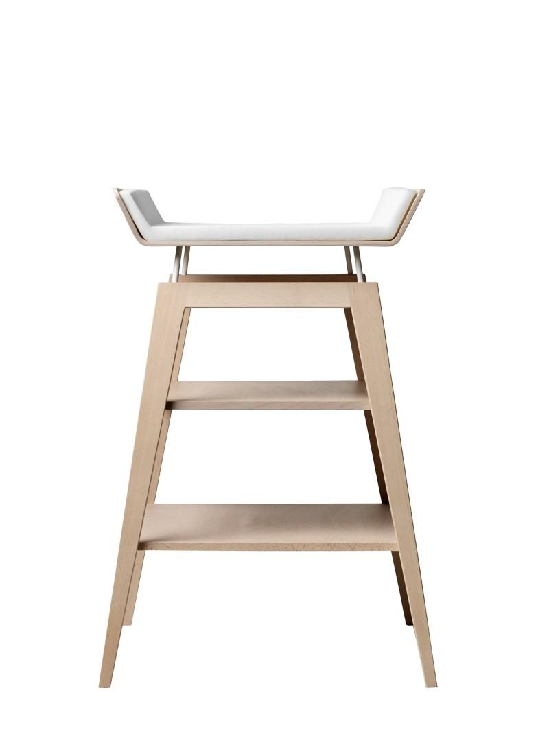 Table à langer avec matelas Linea bois de hêtre naturel Leander 2
