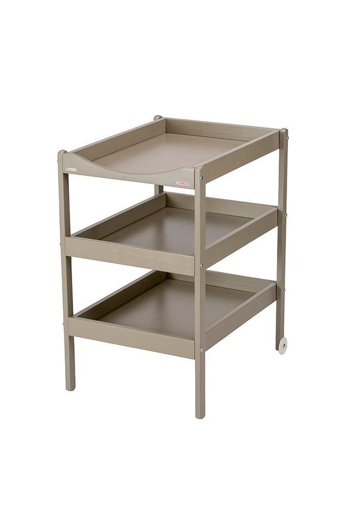 Table à langer Susie gris clair et taupe Combelle 1