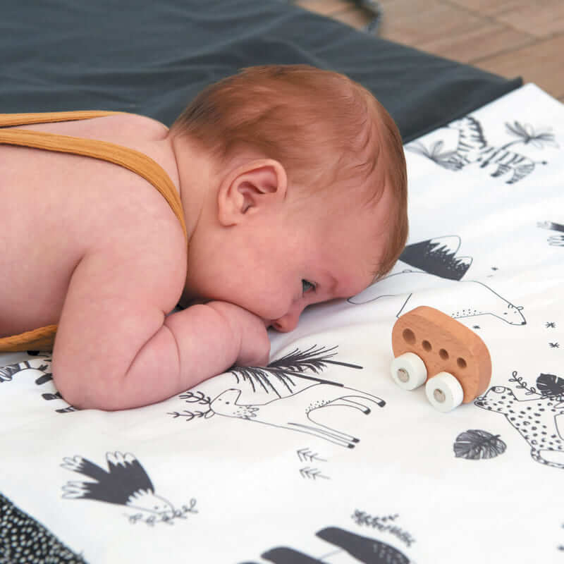 Tapis de motricité Black & White experience XL Candide bébé