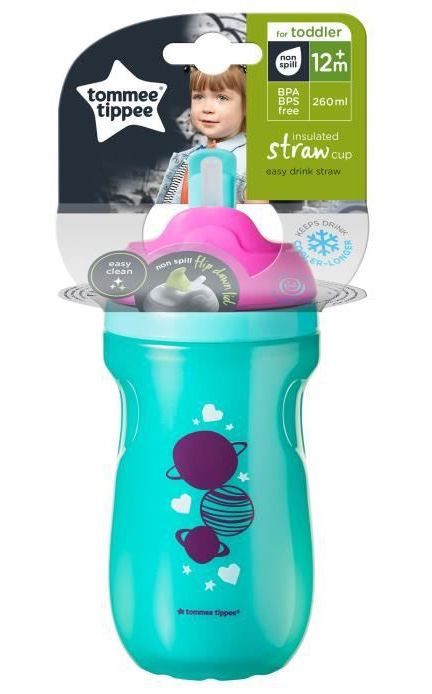 Tasse à paille isotherme 260 ml 12m+ Tommee Tippee Packaging