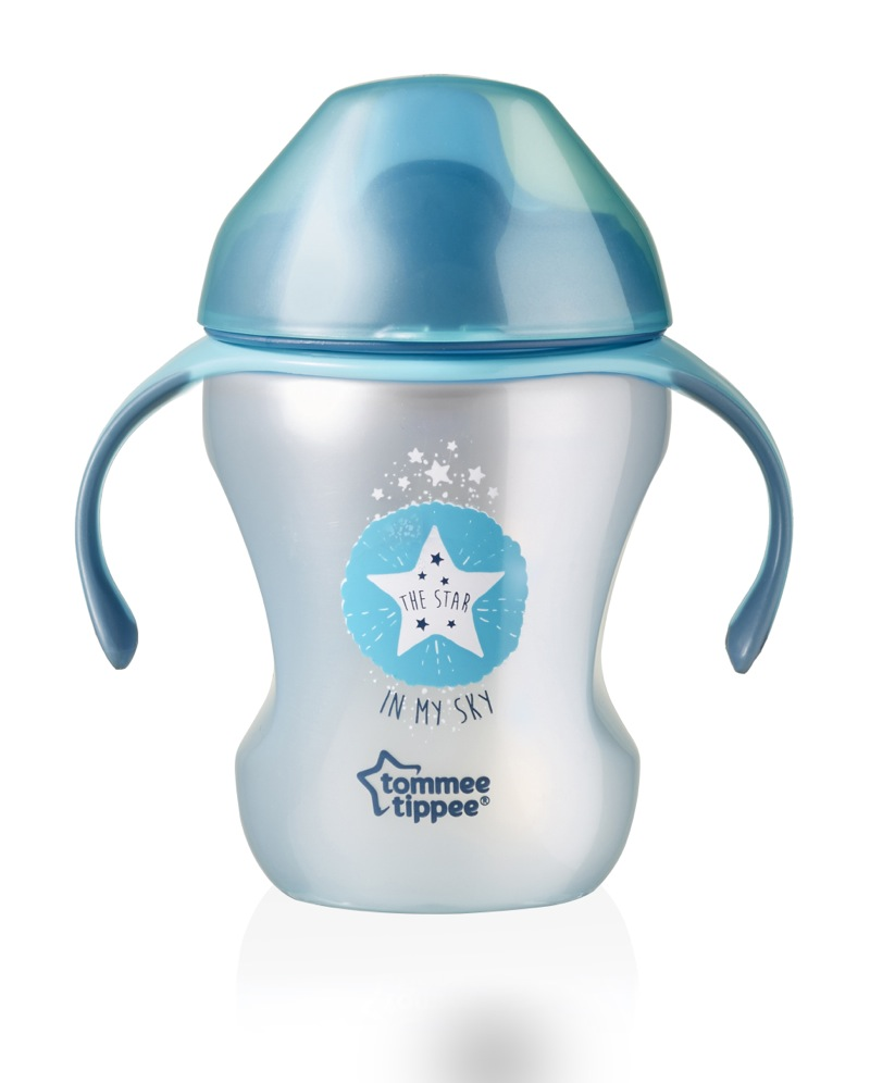 tasse a bec explora easy drink 6 mois plus bleu tommee tippee bambinou