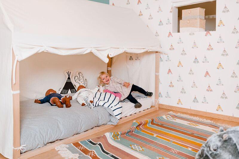 Toile pour lit Cabane 90 x 200 cm Chiledhome Déco