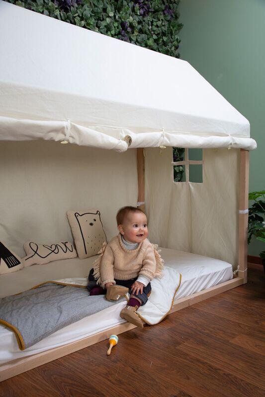 Toile pour lit Cabane 90 x 200 cm Chiledhome Bébé
